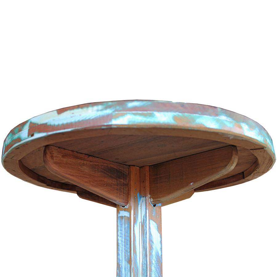 Mesa Bistrô em Madeira de Demolição  Color  0,60M