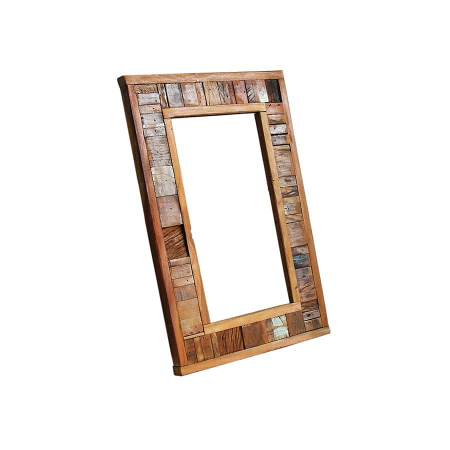 Moldura Para Espelho Em Madeira De Demolição 0,60 x 0,40 - Sem Espelho