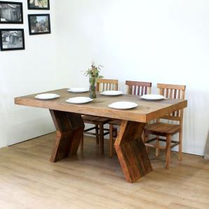 Mesa de Jantar Rústica em Madeira de Demolição