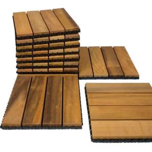 Deck de Itaúba Modular Base Plástica 0,30x0,30m