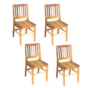 kit 4 Cadeiras AR Natural - Madeira Maciça