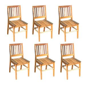 kit 6 Cadeiras AR Natural - Madeira Maciça