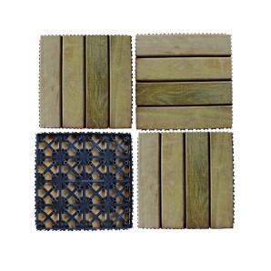 Kit com 4 Decks de Itaúba Modular Base Plástica 0,30x0,30m