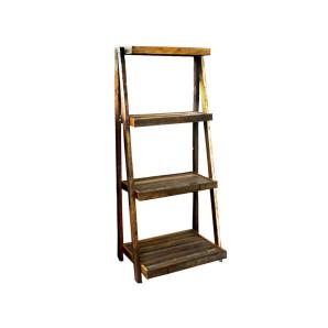 Estante escada rústica em madeira de demolição - Horta Vertical Escada