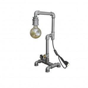 Luminária Industrial de tubo Vintage 1 bocal